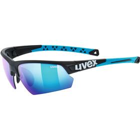 UVEX Sportstyle 224 Pyöräilylasit, black matt blue/mirror blue